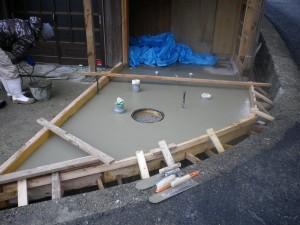 コンクリート工事後