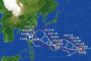 台風91011